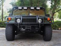 2003 Hummer H1 Open Top in Woodland Green w Grey
