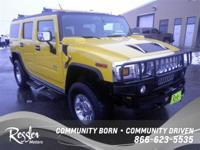 4 Wheel Drive!! This Yellow 2003 HUMMER H2 is powered