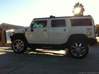 2003 H2 HUMMER LT. WHITE, POWER EVERYTHING,
