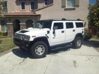 2003 White Hummer H2. I am the 2nd owner. Selling