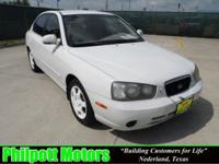 Options Included: N/A2003 Hyundai Elantra, white with