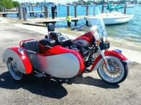 2003 Indian Spirit Red and Silver with the sidecar, the
