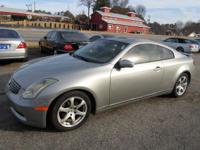 2003 INFINITI G35 COUPE AUTOMATIC SILVER ON TAN WITH