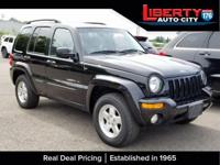 CARFAX One-Owner. Black 2003 Jeep Liberty Limited 4WD