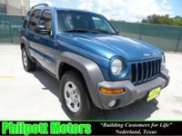 Options Included: N/A2003 Jeep Liberty Sport, blue with