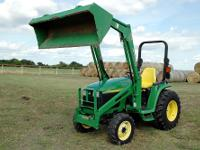 John Deere 4310 4x4 compact utility tractor w/ loader
