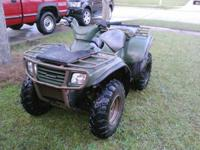 It's hunting season!!!! 2003 Kawasaki Prairie 650 4x4.