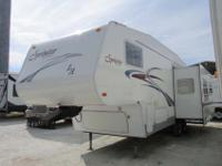 A 29' Fifth Wheel with 1 slide-out and power front