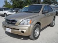 Options Included: N/A2003 Kia Sorento LX 4x4 Gold,