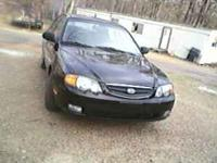Black 2003 Kia Spectra, 4 door, 98k miles, automatic,