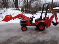 Package includes the tractor, loader, backhoe, sixty