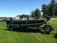 175hp Evinrude (Bombardier) 2 stroke w/oil injection,