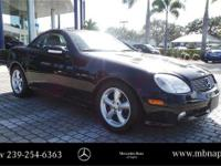 Call about this 2003 SLK320 hardtop convertible. This