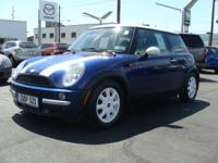 "Options Included: N/AAffordable Mini Cooper ""S"" model."