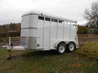 2003 Morgan Built 2 horse slant trailer in very good