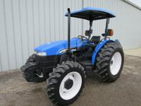 2003 NEW HOLLAND TN75 UTILITY FARM TRACTOR MFWD 4X4 4