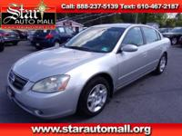 New Price! Silver 2003 Nissan Altima 2.5 S FWD 4-Speed