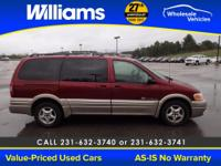 Options:  2003 Pontiac Montana M16|Red|This Vehicle Is