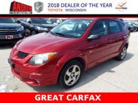 Red Clean CARFAX. AWD. 31/26 Highway/City MPG 2003