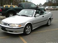 ~*~ 2003 Saab 9-3 SE Convertible ~*~  Silver w/