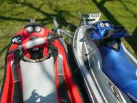 For sale are two SeaDoo's on a Genisis galvanized two