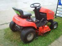 "This is a 2003 ""Simplicity"" Garden Tractor Broadmower"