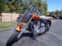 Heres a cool looking bar hopper! This custom Chopper