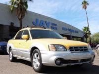 Options:  2003 Subaru Baja 4Dr|Yellow|Black|135|000