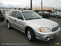 RARE 2003 SUBARU  BAJA SILVER   ALL WHEEL DRIVE : HAS