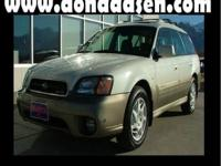 Outback 3.0 VDC, 3.0 L SMPI DOHC, 4-Speed Automatic