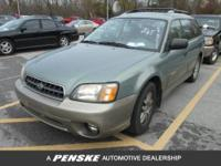 FUEL EFFICIENT 28 MPG Hwy/22 MPG City! Outback trim.