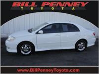 2003 Toyota Corolla 4 Dr Sedan S Our Location is: Bill