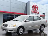 Silver 2003 Toyota Corolla LE FWD 4-Speed Automatic