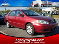 Clean CARFAX. 38/29 Highway/City MPG 2003 Toyota