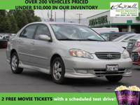 CarFax 1-Owner, This 2003 Toyota Corolla will sell fast