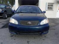 2003 Toyota Corolla LE VVTI 4 Cylinder...Excellent