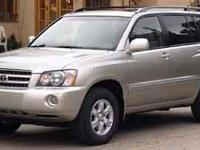Cashmere 2003 Toyota Highlander V6 FWD 4-Speed