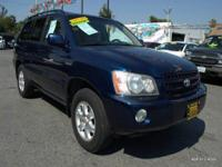 Options:  2003 Toyota Highlander Limited 4Dr