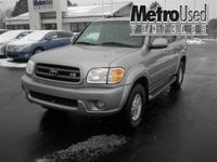 Low mile Toyota Sequoia 4x4 w/ third row seating! The