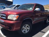 Tundra Access Cab V8 SR5  Options:  Rear Wheel
