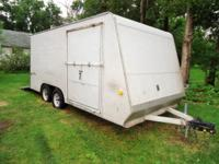2003 Trail Boss Trailer, tandem axles, rear ramp door
