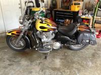 2003 V92 Custom Classic Crusier. It has 7500 miles on