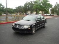 03 Black Volkswagen Passat GLS model 4 door sedan 1.8T