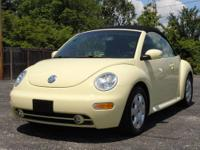 This is a very clean 2003 VW Beetle Convertible GLS