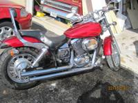 I have a 2003 750 Honda Shadow. It has red flames on
