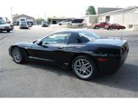Striking all Black 2003 Corvette Z06 coupe. Extremely