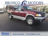 Red 2003 Ford F-150 Lariat 4WD 4-Speed Automatic with