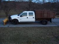 2003 Ford F450 Crew Cab Diesel XL with Plow Selling