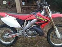 $2200 for this stock 2003 Honda cr 250r. The bike is in