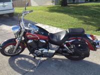 2003 shadow american classic edition. Gets 45-50 miles